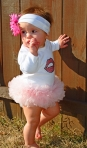 kissing lips tutu onesie